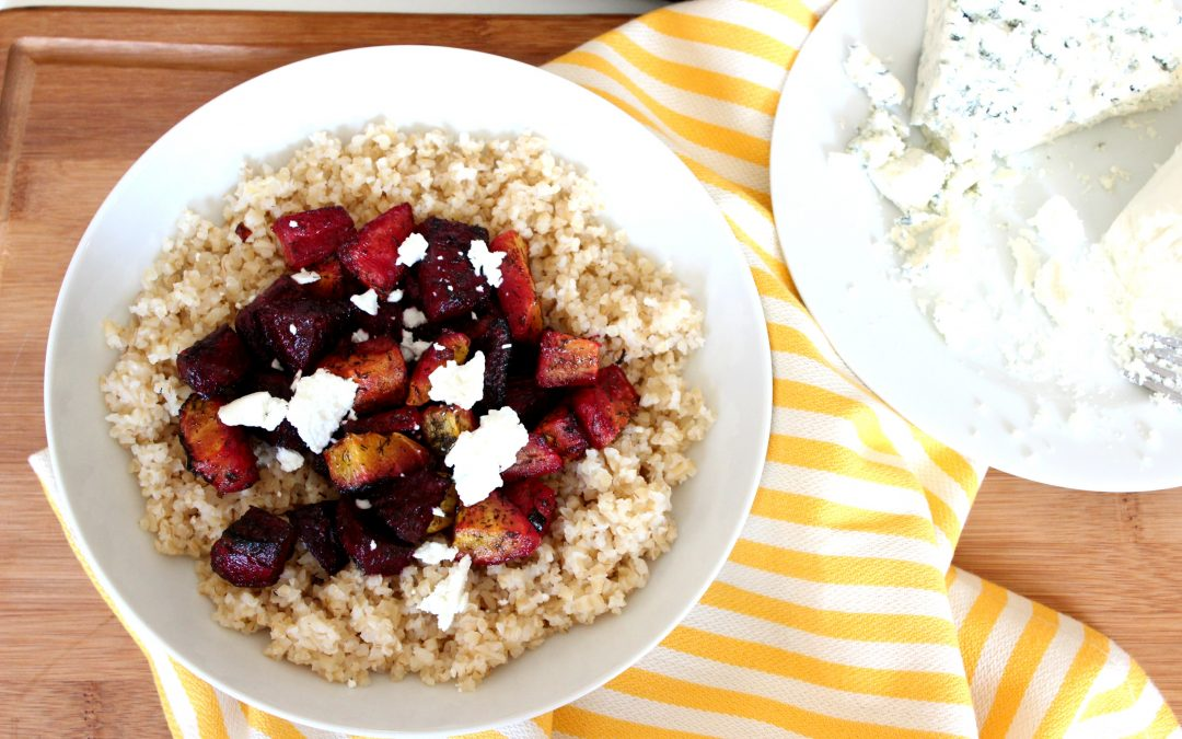 Roasted Beets and Goat Cheese Grain Bowl
