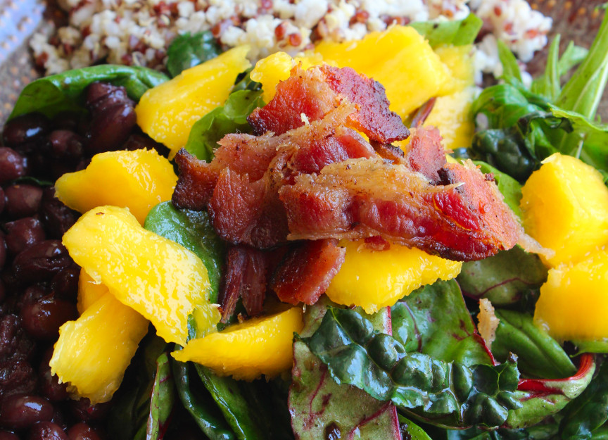 Wilted Salad with Mango and Whole Grains