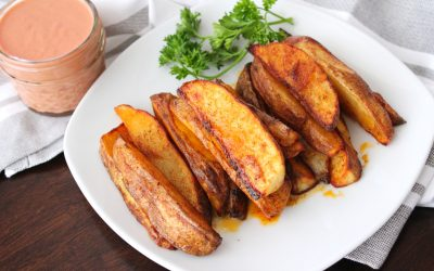 Clean Eating BBQ Potato Logs